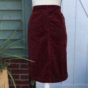 J. Crew Corduroy Side Slit Pencil Skirt Size 4